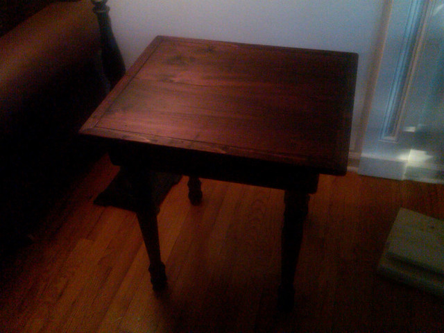 End Table, Farmhouse, harvest colonial. traditional-furniture