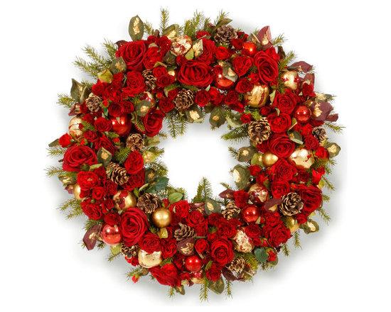 "Glamorous Holiday Wreath 36"" - GLAMOROUS HOLIDAY WREATH 36"""