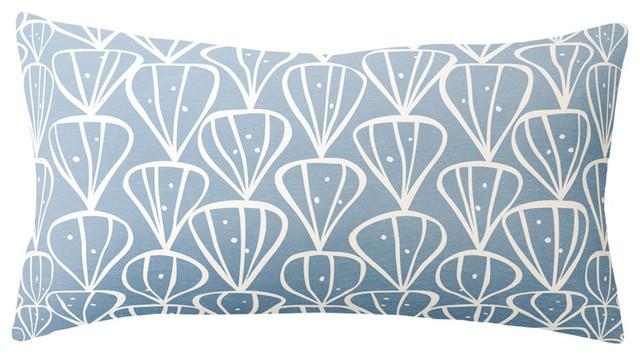 Paper Cloud - Petals Field Long Pillow 12x22 modern-decorative-pillows