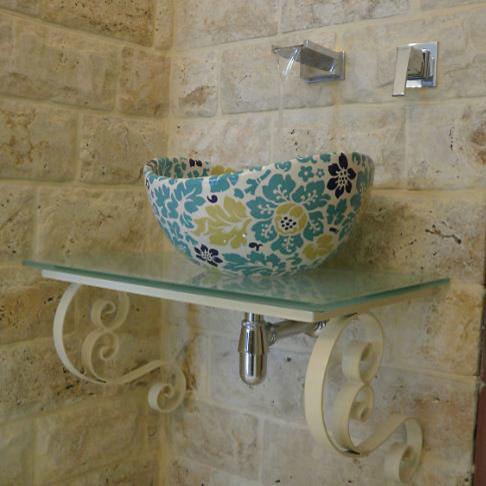 Floral Bathroom Sinks : All Rooms / Bath Photos / Bathroom
