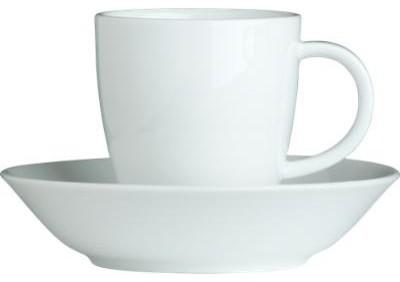 Espresso Cup with Saucer contemporary-mugs