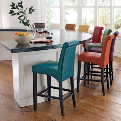 Valencia Leather Bar Stools Modern Bar Stools And