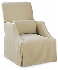 Grand Lounger Skirted Chair by Lee Industries traditional chairs