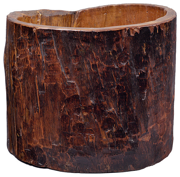 Vintage Tree Trunk Bucket contemporary-dressers-chests-and-bedroom-armoires