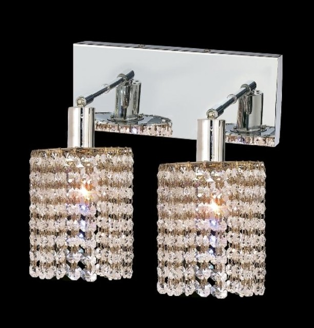 Elegant Lighting 1282W-O-R-CL/SA Wall Sconces from the Mini Collection contemporary-wall-lighting