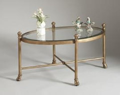 Gold Gordon Oval Cocktail Table traditional coffee tables