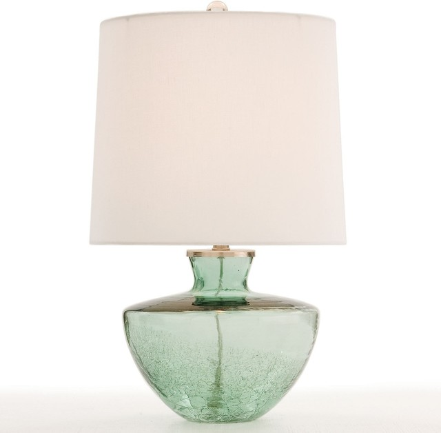 Accent Lighting Of Contemporary Table Lamps For Living: Arteriors Misha Half Crackle Glass Accent Table Lamp