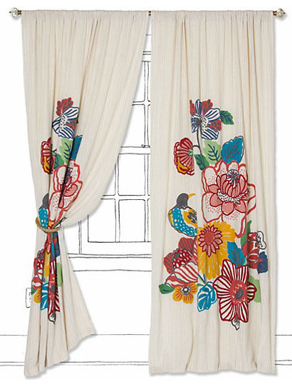 Botanica Curtain - Eclectic - Curtains - by Anthropologie