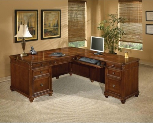 Antigua Executive L-Shape Desk with Right Return - modern - home