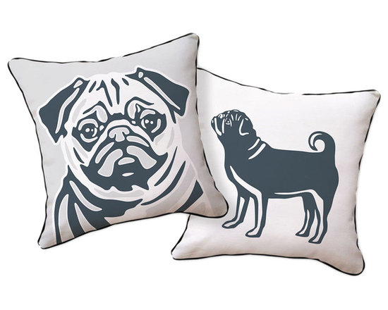 Naked Decor Pug Reversible Pillow