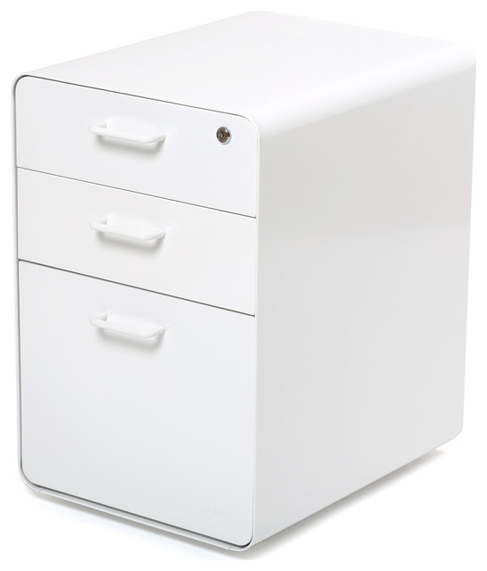 West 18th File Cabinet, White - Modern - Filing Cabinets