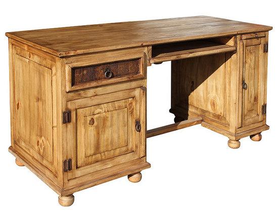 Rustic Pine Office Desk -