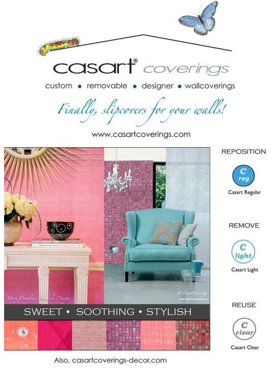 Casart coverings - Pink Decor - Finally, slipcovers for your walls. Sweet, soothing, and stylish. Photo by Casart Coverings
