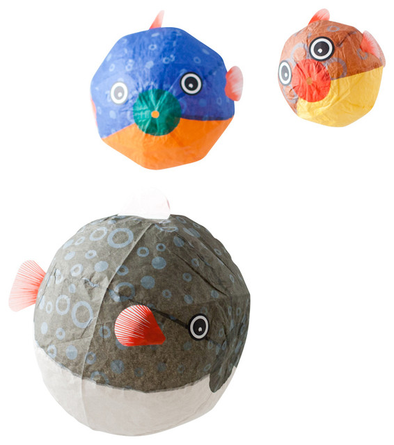 Globefish Paper Balloon, 3-Piece Set traditional-kids-decor