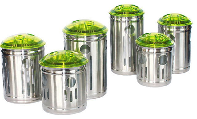 Stainless Steel Kitchen Storage Container Contemporary Kitchen Canisters And Jars Other