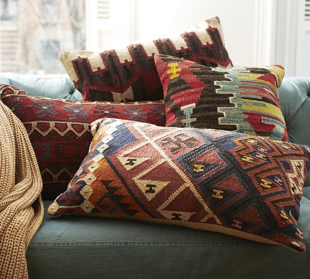 Norton Kilim Lumbar Pillow Cover - Traditional - Decorative Pillows - other metro - by Pottery Barn