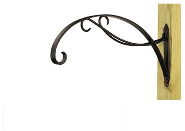 Art Deco Hanging Basket Brackets : Bel casa scroll hanging basket bracket contemporary