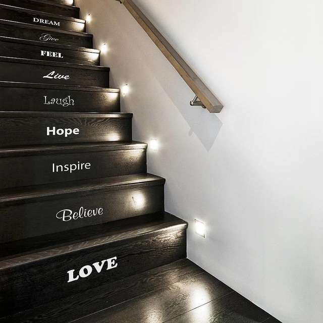 Wall Art Stickers Not On The High Street : Inspirational stair sticker set contemporary wall