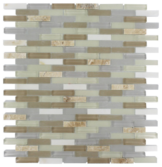 Nexus Shabby Chic Mini Brick - modern - bathroom tile - by Glass ...