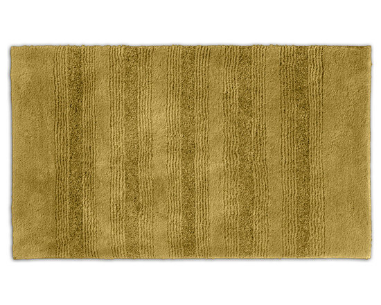 "Sands Rug - Westport Stripe Sand Dune Washable Bath Rug (2'6"" x 4'2"") - Classic and comfortable, the Westport Stripe bath collection adds instant luxury to your bathroom, shower room or spa. Machine-washable, always plush nylon holds up to wear, while the non-skid latex makes sure rugs stay in place."