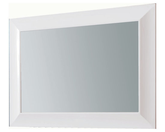 "Viena 43"" glass mirror. White. -"