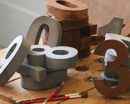 Metal Numbers - These unique, hand-crafted accessories are imported from small cottage industries in Colombia, Honduras, Haiti, Morocco, and more.