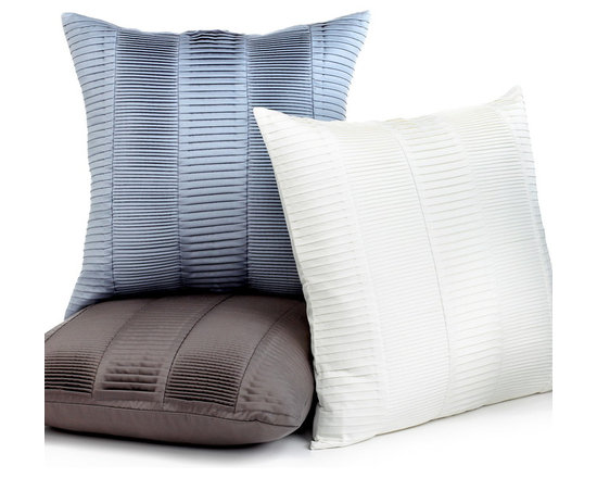 Hotel Collection Bedding, Decorative Pillows - Rows of luxurious pleating in a chic blue tone gives this decorative pillow from Hotel Collection a modern appeal. Available exclusively at Macy's and Macys.com/hotelcollection