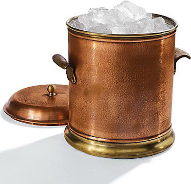copper ice bucket traditional ice tools and buckets