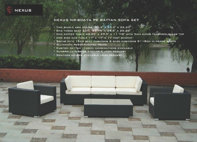NEXUS PRODUCTS modern-outdoor-sofas