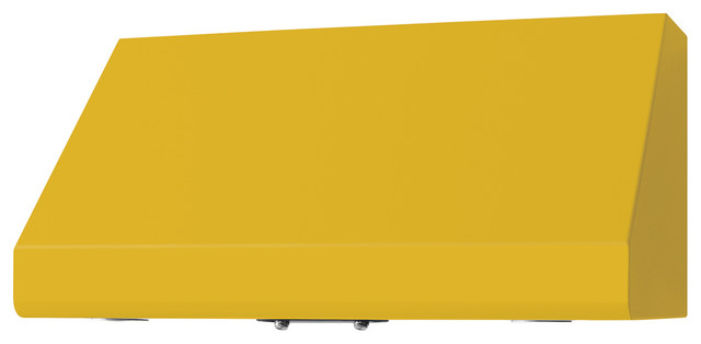 """36"""" Prizer Incline Hood in Golden Yellow (RAL 1004) modern-range-hoods-and-vents"""