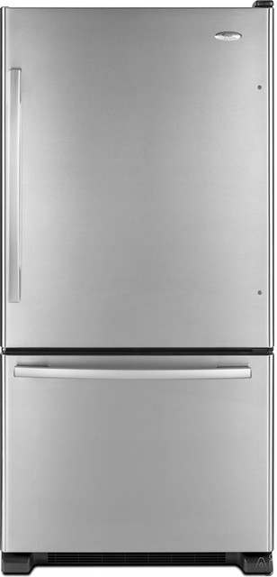 Whirlpool 18.5 cu. ft. Bottom-Freezer Refrigerator contemporary-refrigerators