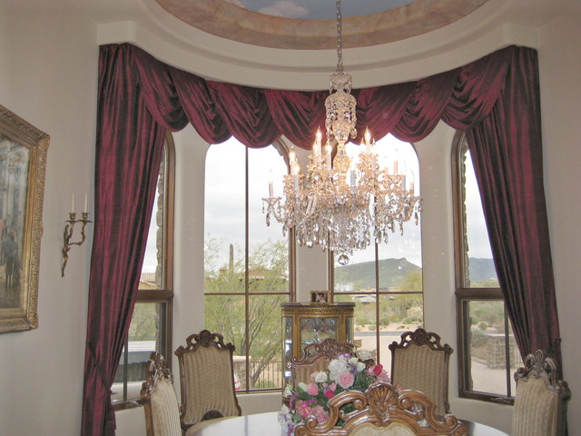 Drapes And Swags Traditional Dining Room Phoenix By Altra Home Decor