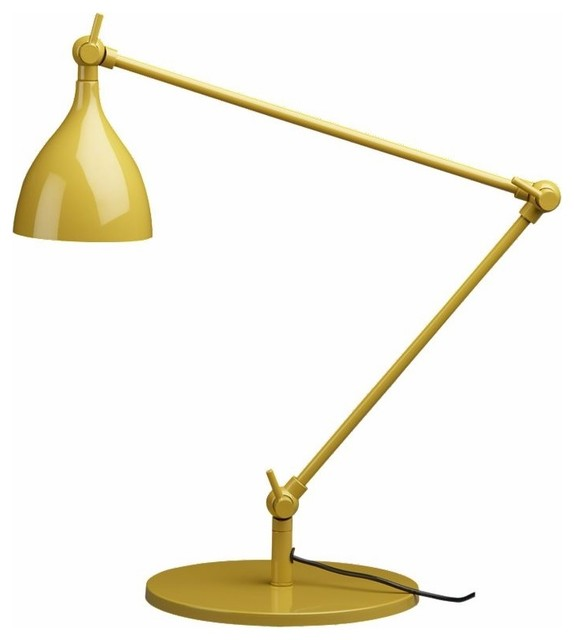 CB2 - Crane Grellow Desk Lamp contemporary table lamps