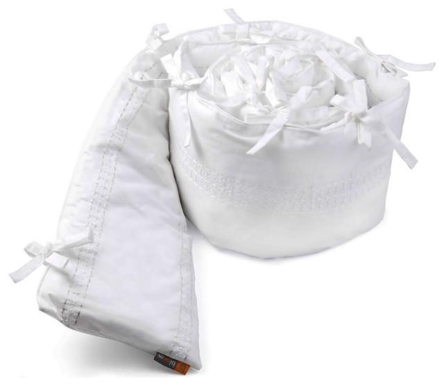 Organic Alma Max Bumper, Coconut White modern-baby-bedding