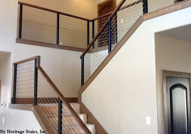Residential cable railing modern by ultra tec