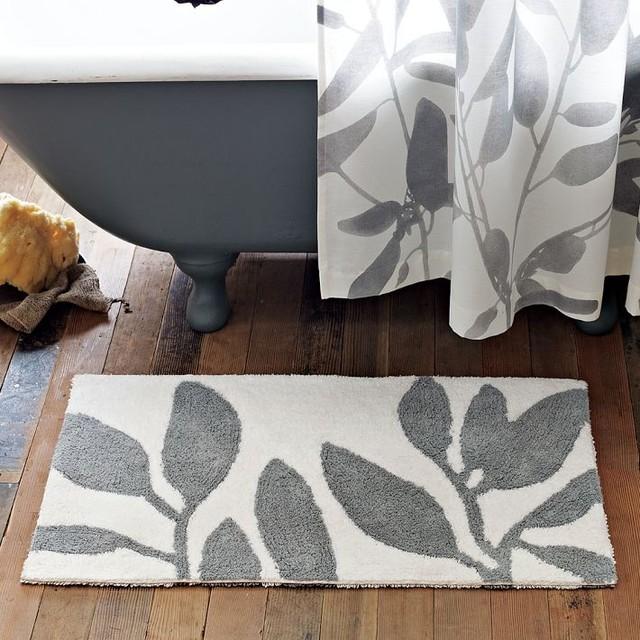 Bamboo Bath Mat modern-bath-mats