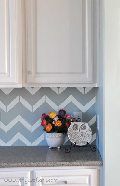 Chevron Vinyl Wall Decals by Vinyl Wall Art modern-decals