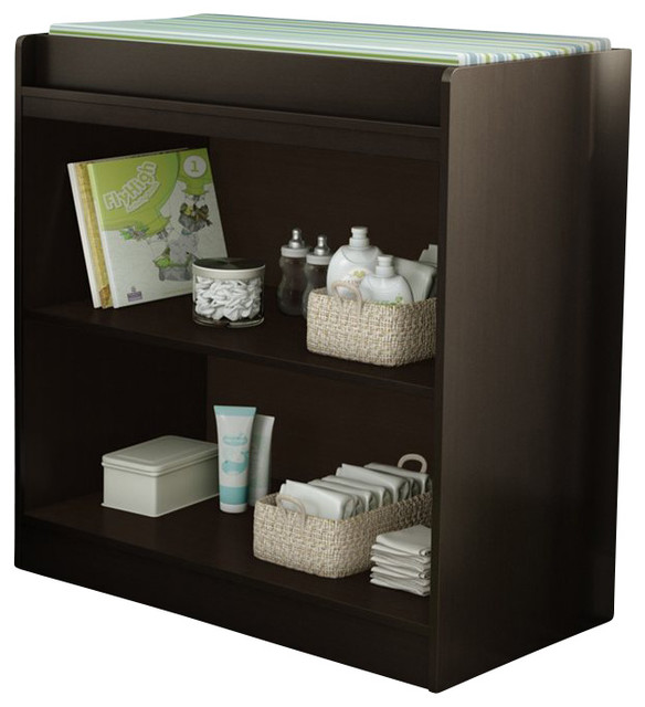 South Shore Libra Changing Table Chocolate transitional-changing-tables