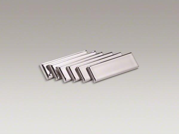 KOHLER Laureate(TM) decorative strip tile, Polished Platinum contemporary-bathroom-accessories