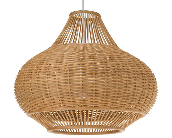 Kouboo - Wicker Pear Pendant Lamp, Natural - For the ultimate 1970's-inspired piece in your home, look no further than this elegantly shaped pear pendant lamp. Hand-woven from natural wicker, this sophisticated light is a real showstopper.