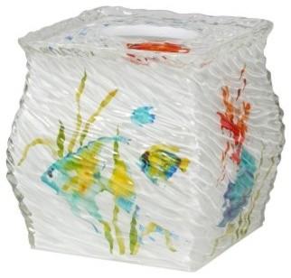 Creative Bath Rainbow Fish Boutique Tissue Holder modern-toilet-accessories