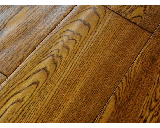 Handscraped oak flooring - Wood species: Handscraped  Oak Solid Wood Flooring