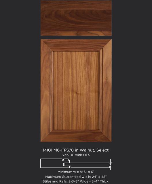 Mitered Walnut Cabinet Door Style Transitional Kitchen