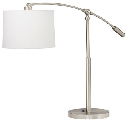 Kichler 70756 Brushed Nickel Cantilever Cantilever 1 Light Table Lamp contemporary-table-lamps