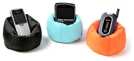 Beanbag Cell Phone Chair eclectic-desk-accessories
