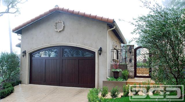 Custom made mediterranean garage door by dynamic garage for Mediterranean garage doors