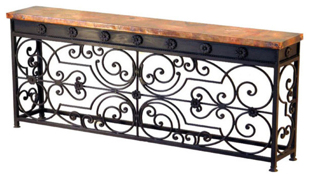 Villa Gate Large Console mediterranean-side-tables-and-end-tables
