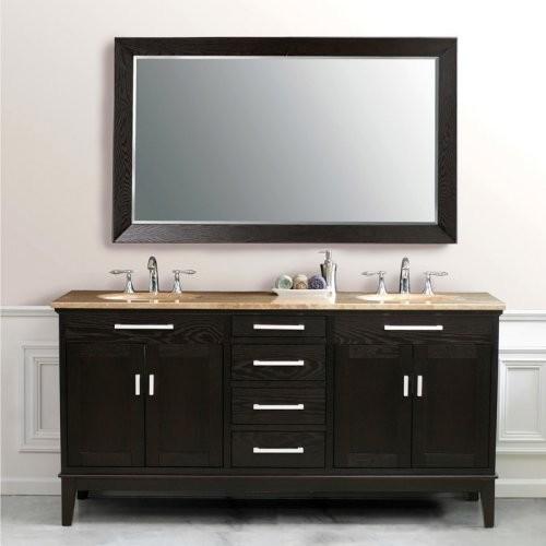 Virtu USA Battista 72-in. Dark Espresso Double Bathroom Vanity Set LD-2130 contemporary-bathroom-vanities-and-sink-consoles
