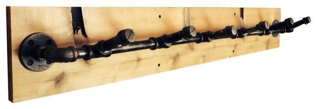 Industrial Pipe Coat Rack, 6 Hook industrial-hooks-and-hangers