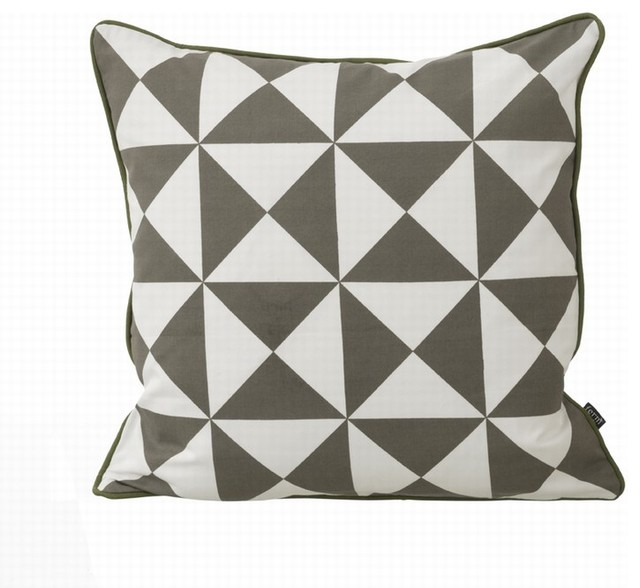 7310 Large Geometry Cushion contemporary pillows